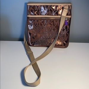 Metallic Michael Kors crossbody bag